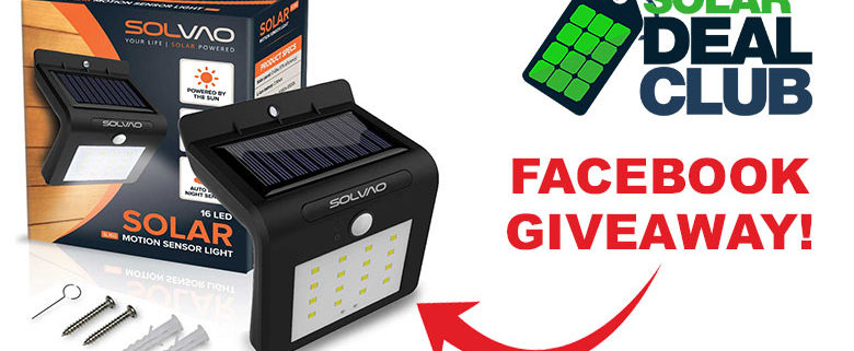 Solar Deal Club & SOLVAO SL160 Giveaway