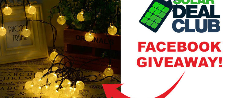 Solar Deal Club Solar String Lights Giveaway