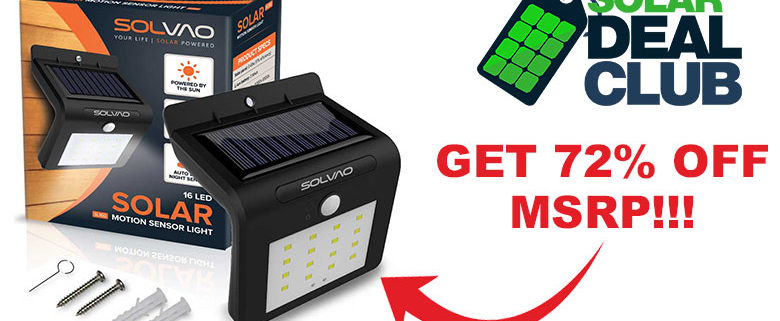 Solar Deal Club 72% Off SL160